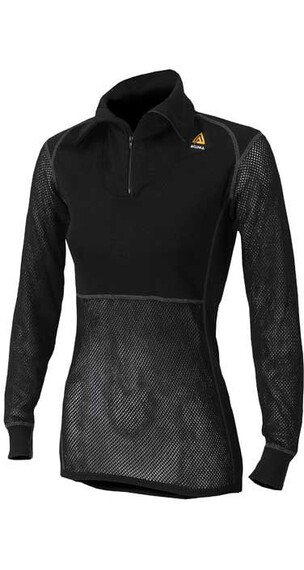 Aclima W's Woolnet Polo Zip Black